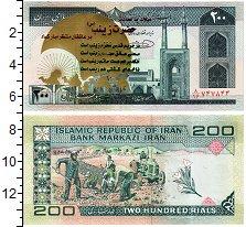 Изображение Банкноты Иран 200 риалов 0  UNC Мечеть. Полевые рабо