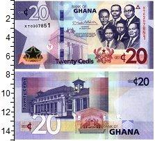 Изображение Банкноты Гана 20 седи 2019  UNC