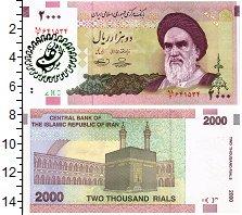 Изображение Банкноты Иран 2000 риалов 0  UNC