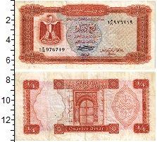 Изображение Банкноты Ливия 1/4 динара 1971  XF-