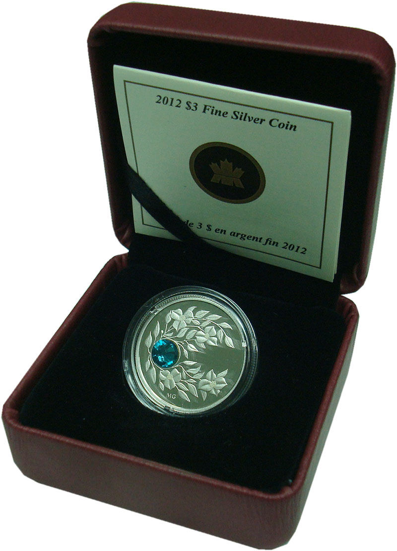 Изображение Подарочные монеты Северная Америка Канада 3 доллара 2012 Серебро Proof