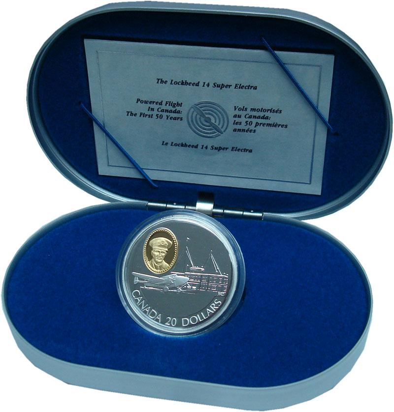 Изображение Подарочные монеты Канада 20 долларов 1993 Серебро Proof