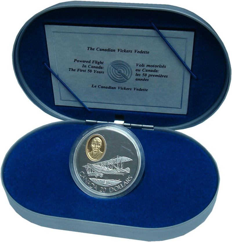 Изображение Подарочные монеты Северная Америка Канада 20 долларов 1992 Серебро Proof