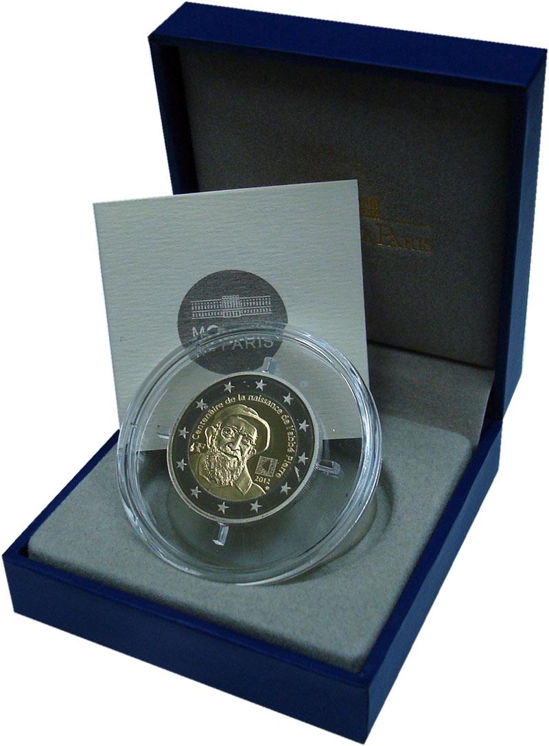 Изображение Подарочные монеты Европа Франция 2 евро 2012 Биметалл Proof