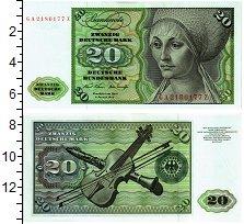 Изображение Банкноты ФРГ 20 марок 1970  UNC