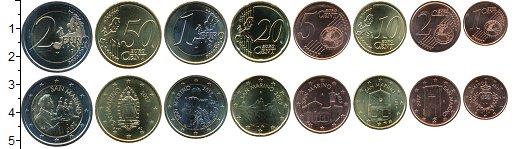 Изображение Наборы монет Европа Сан-Марино Набор 2017 г. 2017 Биметалл UNC
