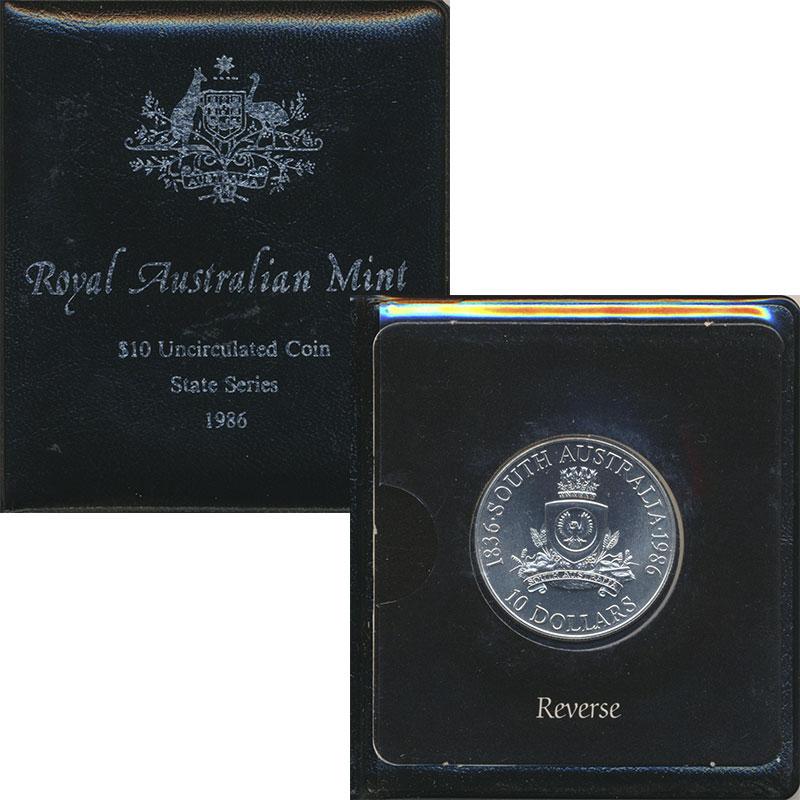 Изображение Подарочные монеты Австралия и Океания Австралия 10 долларов 1986 Серебро UNC