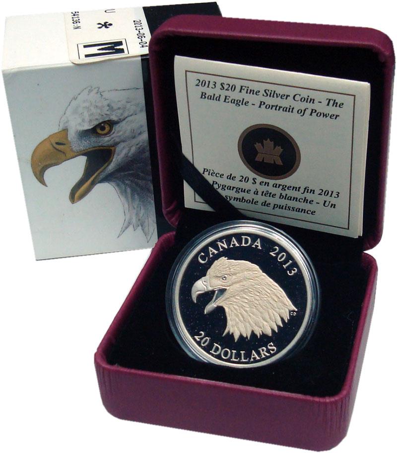 Изображение Подарочные монеты Северная Америка Канада 20 долларов 2013 Серебро Proof-