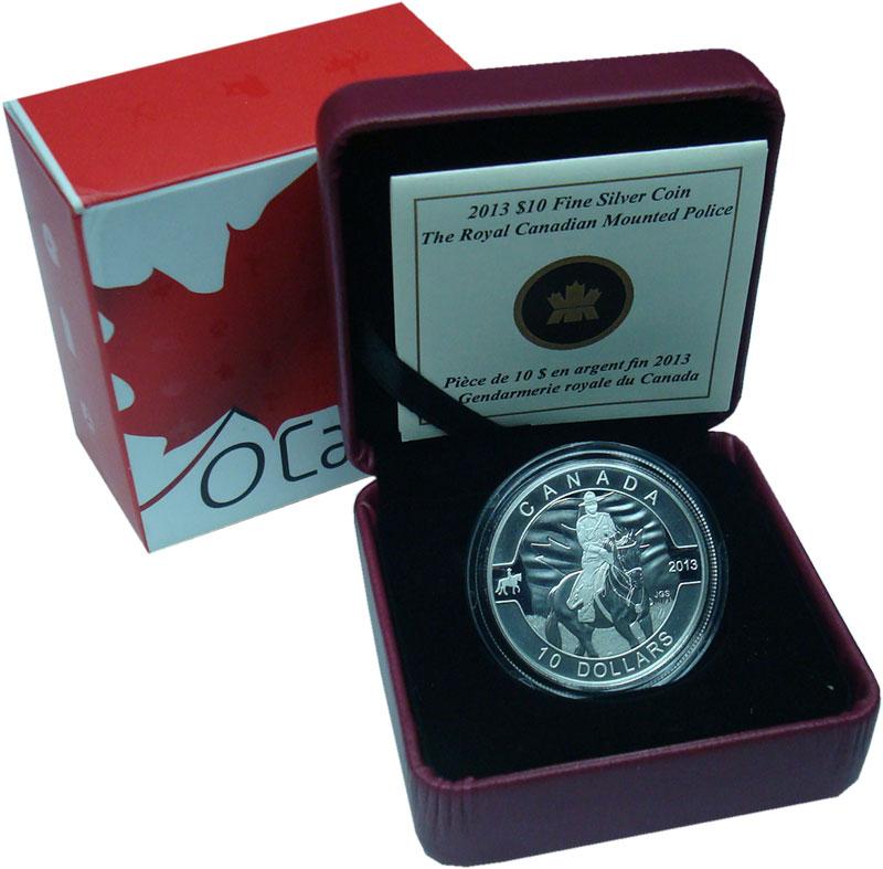 Изображение Подарочные монеты Северная Америка Канада 10 долларов 2013 Серебро Proof
