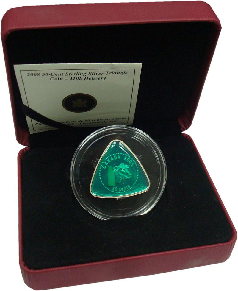 Изображение Подарочные монеты Канада 50 центов 2008 Серебро Proof