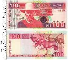 Изображение Банкноты Намибия 100 долларов 1999  UNC