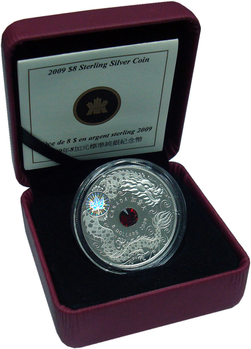 Изображение Подарочные монеты Северная Америка Канада 8 долларов 2009 Серебро Proof
