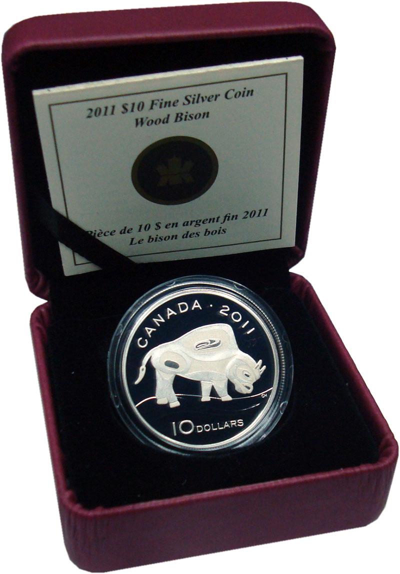 Изображение Подарочные монеты Северная Америка Канада 10 долларов 2011 Серебро Proof