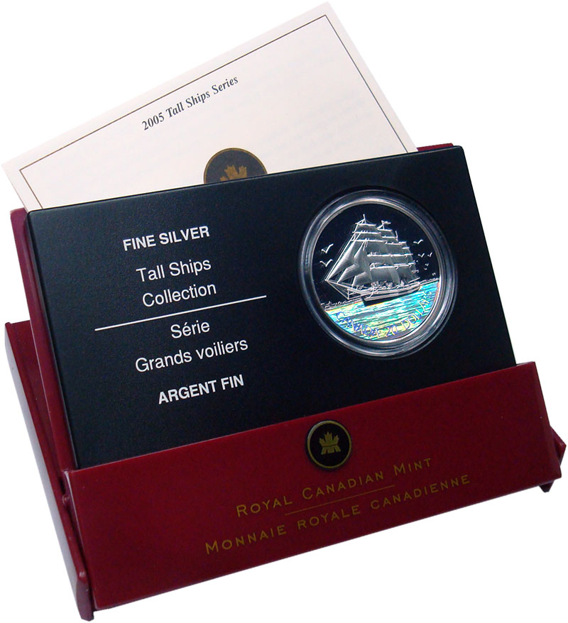 Изображение Подарочные монеты Канада 20 долларов 2005 Серебро Proof