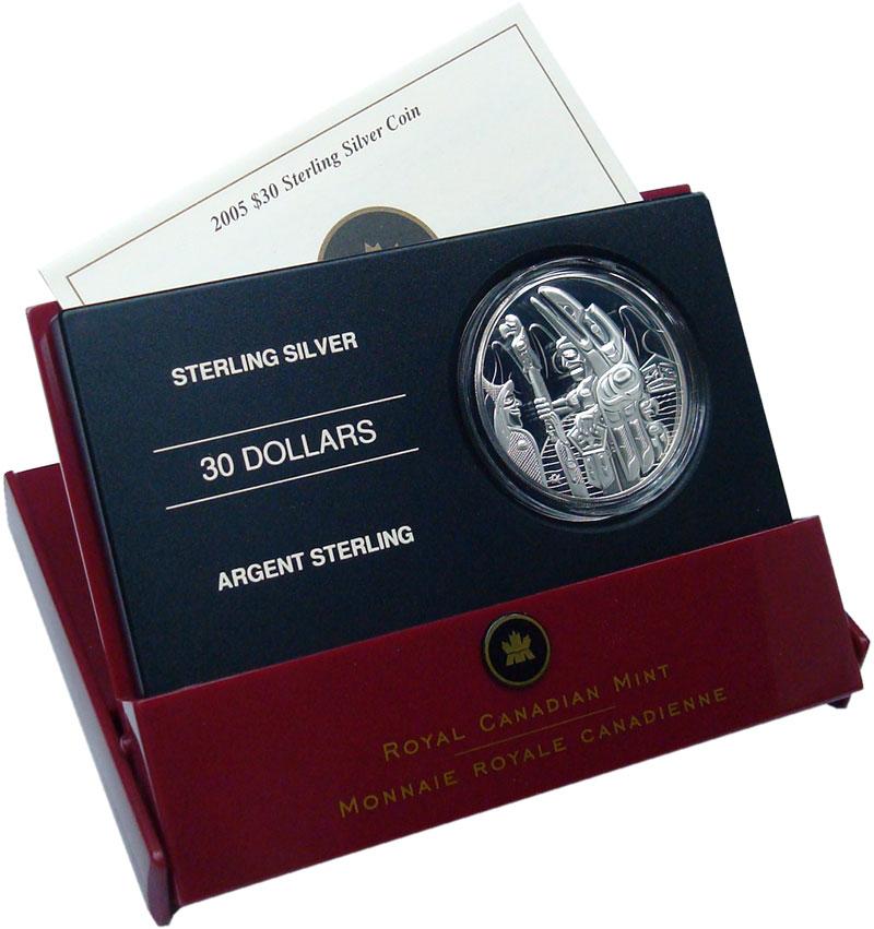 Изображение Подарочные монеты Канада 30 долларов 2005 Серебро Proof