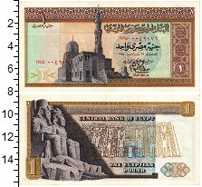Изображение Банкноты Египет 1 фунт 0  XF Мечеть. Древний Егип