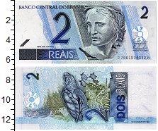 """Изображение Банкноты Бразилия 2 реала 2001  UNC Скульптура """"Республи"""