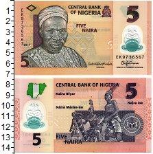 Изображение Банкноты Нигерия 5 найра 2017  UNC Ритуальный  танец