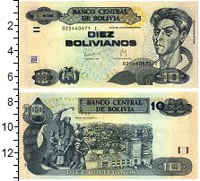 Изображение Банкноты Боливия 10 боливиано 1986  UNC