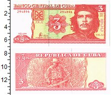 Изображение Банкноты Куба 3 песо 2004  UNC