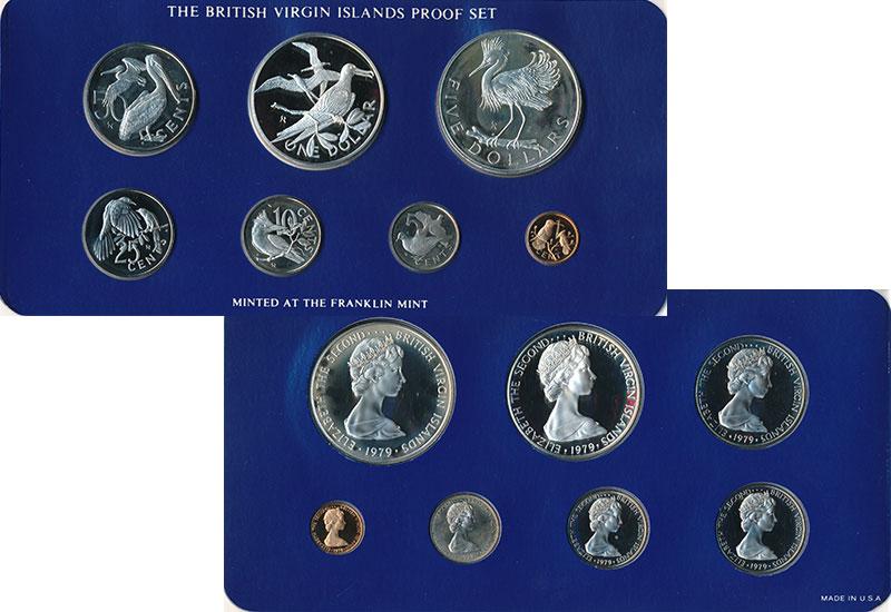 Изображение Подарочные монеты Северная Америка Виргинские острова Набор 1979 года 1979  Proof