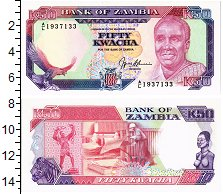 Изображение Банкноты Замбия 50 квач 0  UNC