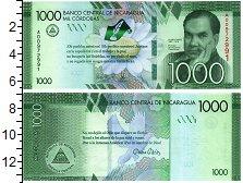 Изображение Банкноты Никарагуа 1000 кордоба 2016  UNC