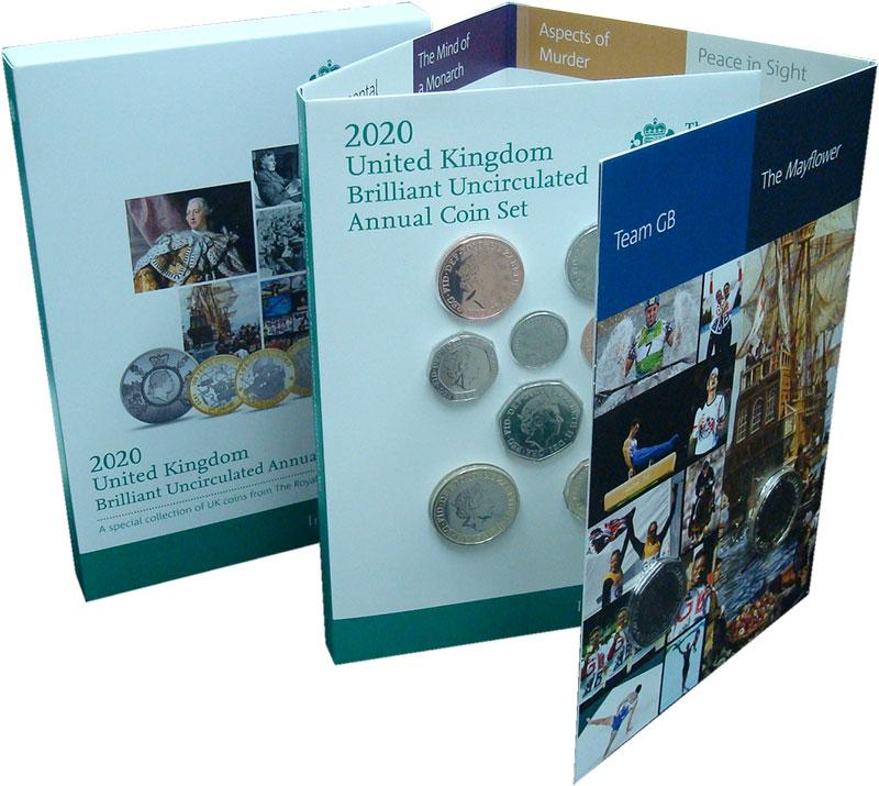 Изображение Подарочные монеты Великобритания Набор 2020 года 2020  BUNC