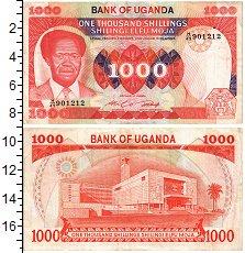 Изображение Банкноты Уганда 1000 шиллингов 1983  XF