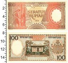 Изображение Банкноты Индонезия 100 рупий 1964  UNC