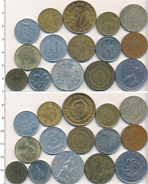 Изображение Лоты монет для начинающих нумизматов Монеты стран мира Лот №01635 0