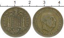 Изображение Дешевые монеты Испания 1 песета 1966 Латунь VF
