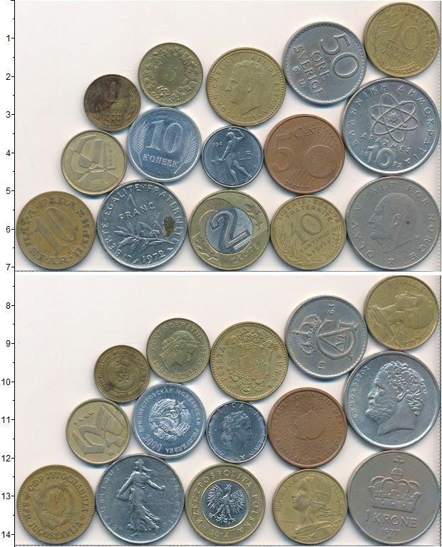 Изображение Лоты монет для начинающих нумизматов Монеты стран мира Лот №01641 0