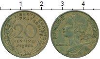 Изображение Дешевые монеты Франция 20 сантим 1968 Бронза VF+