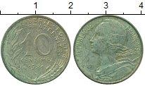 Изображение Дешевые монеты Франция 10 сантим 1981 Бронза XF