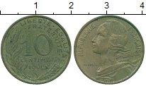 Изображение Дешевые монеты Франция 10 сантим 1969 Бронза XF-