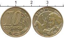 Изображение Дешевые монеты Бразилия 10 сентаво 2012 Латунь-сталь XF