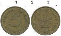 Изображение Дешевые монеты Германия 5 пфеннигов 1987 Латунь XF-