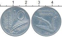 Изображение Дешевые монеты Италия 10 лир 1954 Медно-никель XF-