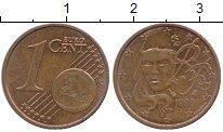 Изображение Дешевые монеты Франция 1 евроцент 1999 сталь с медным покрытием XF