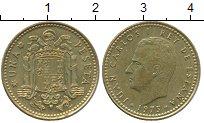 Изображение Дешевые монеты Испания 1 песета 1973 Латунь XF