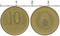 Изображение Дешевые монеты Аргентина 10 сентаво 1993 Бронза VF-