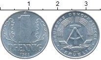 Изображение Дешевые монеты ГДР 1 пфенниг 1968 Алюминий XF-