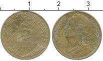 Изображение Дешевые монеты Франция 5 сентим 1976 Латунь VF