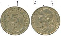 Изображение Дешевые монеты Франция 5 сентим 1991 Латунь XF