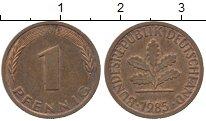 Изображение Дешевые монеты Германия 1 пфенниг 1985 Медь XF