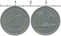Изображение Дешевые монеты Малайзия 10 сен 1968 Медно-никель XF