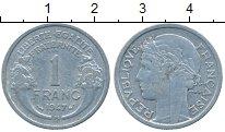 Изображение Дешевые монеты Франция 1 франк 1947 Алюминий XF-