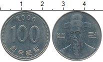 Изображение Дешевые монеты Южная Корея 100 вон 2000 Медно-никель VF+
