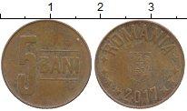 Изображение Дешевые монеты Румыния 5 бани 2017 Медь VF